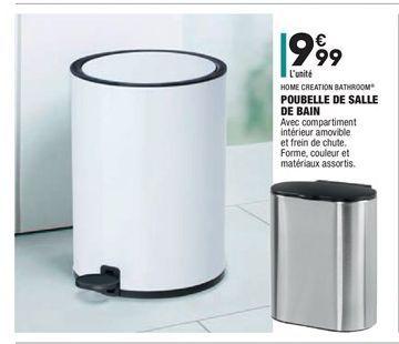 Poubelle de salle de bain offre à 9.99€