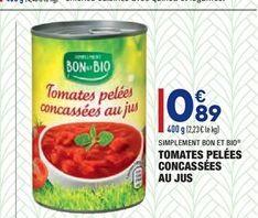 Tomates pelées concassées au jus  offre à 0.89€