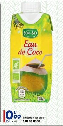 Eau de coco  offre à 0.99€