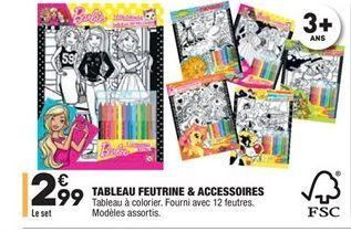 Tableau feutrine & accessoires offre à 2.99€