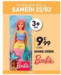 Barbie siréne offre à 9.99€