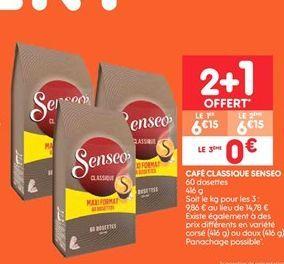Café classique senseo offre à 6.15€