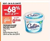 Fromage blanc nature calin offre à 0.66€