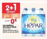 Eau minérale naturelle HÉPAR offre à 2.94€