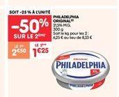 Philadelphia original  offre à 1.25€