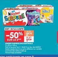 Kinder surprise enchantimals offre à 1.38€