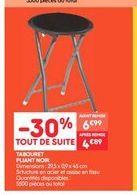 Tabouret pliant noir  offre à 4.89€