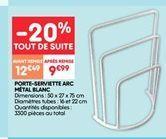 Porte-serviettes ARC metal blanc offre à 9.99€