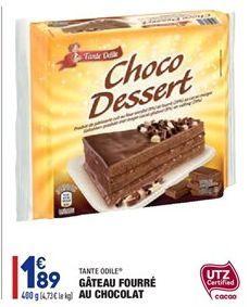 Gâteau Fourré au Chocolat  offre à 1.89€