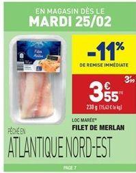 Filet de Merlan offre à 3.99€