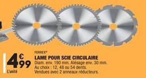 Lames pour Scie Circulaire offre à 4.99€