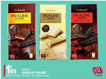 Chocolat Praliné offre à 1.85€