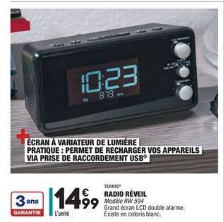Radio Réveil offre à 14.99€