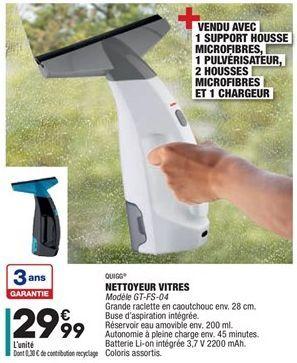 Nettoyeur Vitres offre à 29.99€