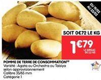 Pommes de terre de consommation offre à 1.79€