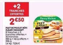 Poulet Fleury Michon offre à 2.5€