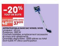 Aspirateur balai offre à 48€