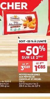 Madeleine offre à 3.69€