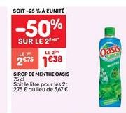 Sirop Oasis offre à 2.75€
