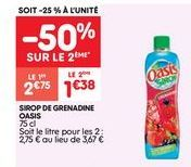 Sirop de grenadine Oasis offre à 2.75€