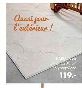 Tapis offre à 119€
