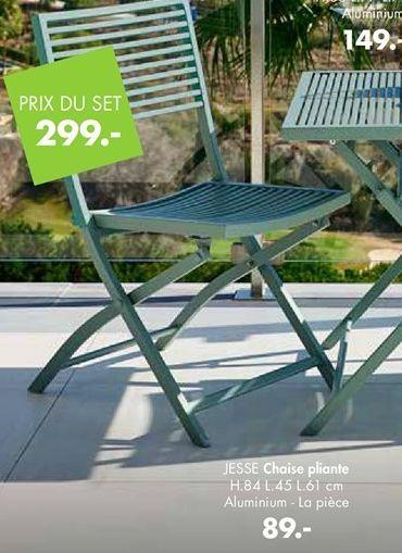 Chaise pliante offre à 89€