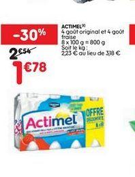 Actimel Danone offre à 1,78€