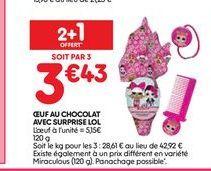 Oeufs au chocolat avec surprise LOL offre à 3,43€