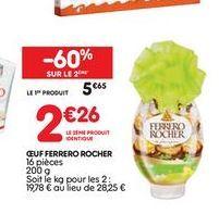 Oeuf Ferrero Rocher offre à 5,65€