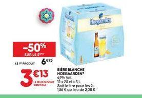 Bière blanche  Hoegaarden offre à 6,25€