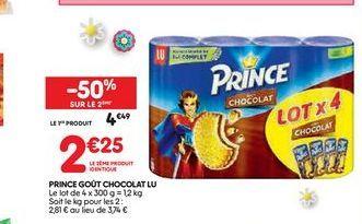 Prince goût chocolat Lu offre à 4,49€