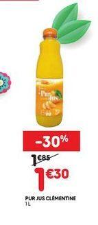 Pur jus clémentine offre à 1,3€
