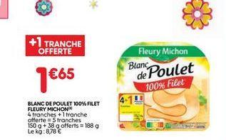 Blanc de poulet  offre à 1,65€