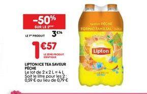 Lipton ice saveur pêche offre à 3,14€
