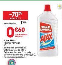 Ajax frais offre à 1,99€