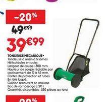 Tondeuse mécanique offre à 39,99€