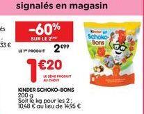 Kinder schoko-bons offre à 2,99€