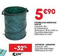 Poubelle jardin sac pop up offre à 5,9€