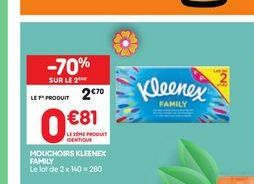 Mouchoir Kleenex family offre à 2,7€