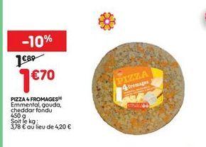 Pizza aux quatre fromages offre à 1,7€