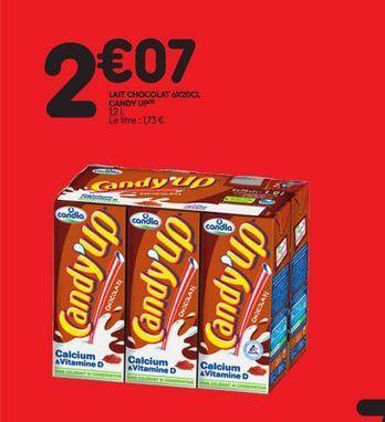 Lait chocolat Candy  up offre à 2,07€