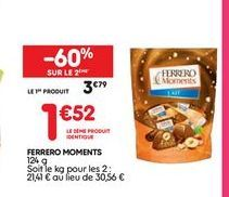 Ferrero moments offre à 3,79€