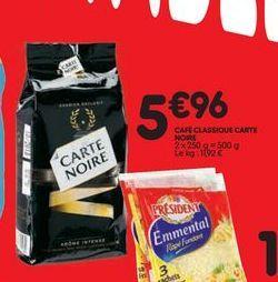 Café classique Carte noire offre à 5,96€