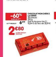 Chocolat mon chéri à la cerise offre à 6,99€