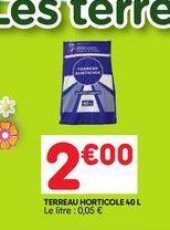 Terreau horticole offre à 2€