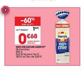 100% mie nature offre à 1,69€