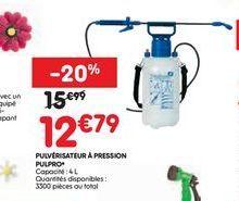 Pulvérisateur à pression offre à 12,79€