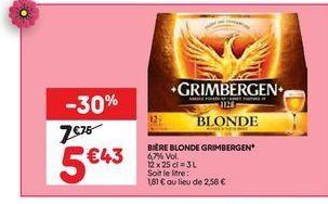 Bière blonde  offre à 5,43€