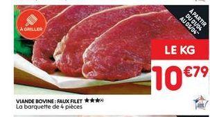 Viande bovine faux filet  offre à 10,79€