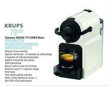 Machine à café espresso Krups offre à